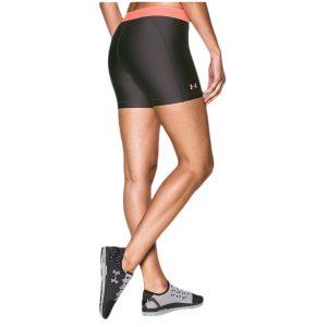Under Armour dámske dlhšie kompresné kraťasy Middy / UA HeatGear® Armour 15cm – Shine Waistband Shorts