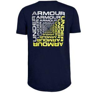 Under Armour detské bavlnené tričko / UA Back Box Graphic Short Sleeve